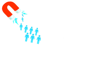 magnet attracting people with text